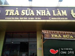 quán trà sữa ngon nhất Gia Nghĩa