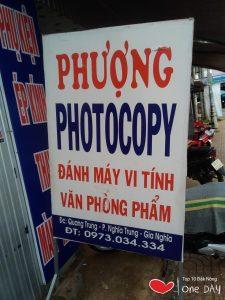 photocopy giá rẻ tại gia nghĩa