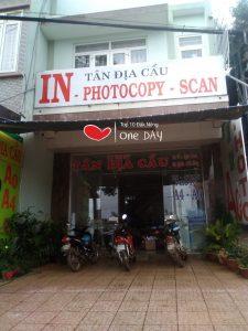 Tiệm photocopy Tân Địa Cầu tại gia nghia dak nong