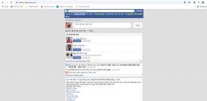 Giao diện cũ của facebook